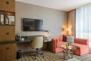 A television and/or entertainment center at Loden Vancouver