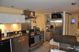 A kitchen or kitchenette at Downtown Large Garden Apartment