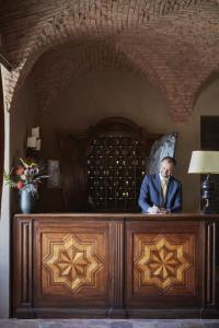The lobby or reception area at Castello di Casole, A Belmond Hotel, Tuscany