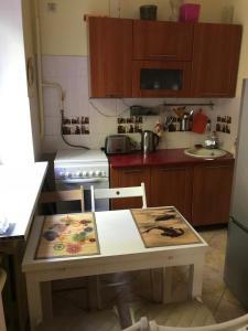 A kitchen or kitchenette at Уютная квартира рядом с МГУ