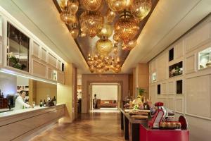 The lobby or reception area at Raffles Jakarta