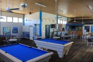 A pool table at Ningaloo Coral Bay Backpackers
