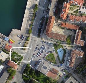 Widok z lotu ptaka na obiekt Apartman Sanja