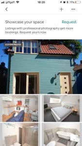 The floor plan of Beach hut seaside cottage