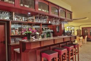 The lounge or bar area at Hotel Krone