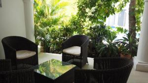 Zona de estar de Hotel Casa Cytia