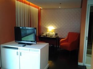 A television and/or entertainment center at The Bayleaf Intramuros