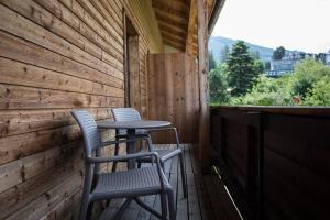 Ein Balkon oder eine Terrasse in der Unterkunft Gasthof Walzl