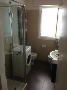 Koupelna v ubytování Residence Antares