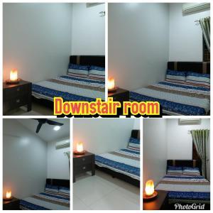سرير أو أسرّة في غرفة في هوم ستاي بوتانيك كوالا سيلانغور