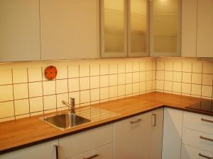 Küche/Küchenzeile in der Unterkunft Sylt