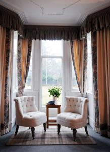A seating area at Struan Hall