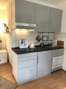 Küche/Küchenzeile in der Unterkunft Ferienwohnung Kraft