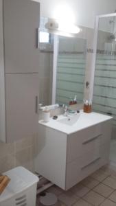 A bathroom at Appartement Mango - Baie-Mahault