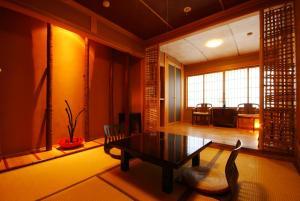 A seating area at Tajimaya