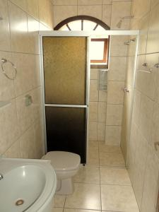 Um banheiro em Hotel San Ghermann