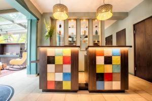 The lobby or reception area at Leonardo Boutique Hotel Berlin City South