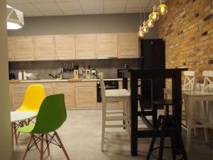 A kitchen or kitchenette at Moon Hostel