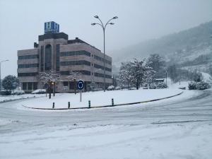 Hotel Pamplona Villava during the winter