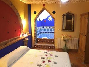 Cama o camas de una habitación en Casas Cueva Cazorla