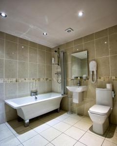 A bathroom at Waterton Park Hotel