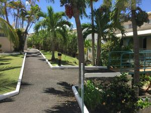 A garden outside Hotel Village Soleil