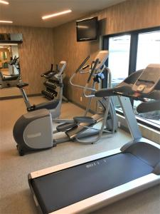 The fitness center and/or fitness facilities at Blue Horizon Hotel
