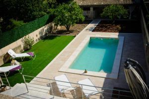 A view of the pool at Pou de S'Alou or nearby
