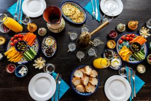 Breakfast options available to guests at Arabesque Arts & Residency