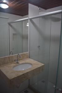 Um banheiro em Pousada Vida Boa