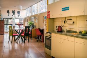 A kitchen or kitchenette at Flying Dog Hostel