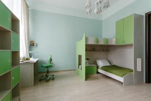 Двухъярусная кровать или двухъярусные кровати в номере У Литейного моста