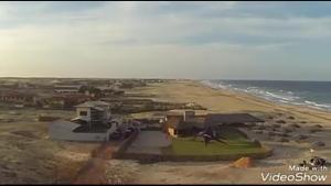 Uma vista aérea de Villa do kite