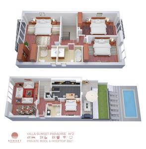 The floor plan of Sunset Paradise Villa n°2