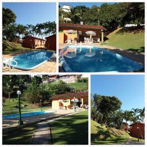 The swimming pool at or near Chalé em Ilhabela - Praia de Itaguassu