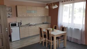 A kitchen or kitchenette at Penzion U Rybníka