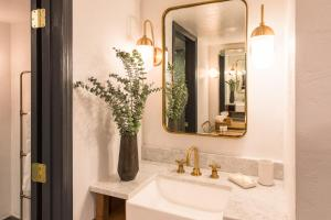 A bathroom at The Scott Resort & Spa