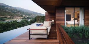 A balcony or terrace at Quinta de S.Bernardo - Winery & Farmhouse