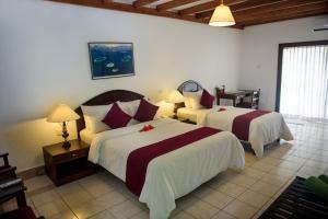 Кровать или кровати в номере Biyadhoo Island Resort