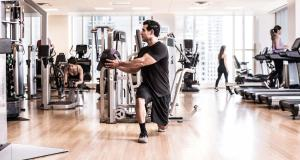 The fitness center and/or fitness facilities at The Peninsula Chicago