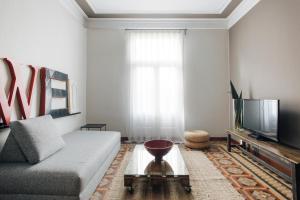 Zona de estar de Barcelona Apartment Val