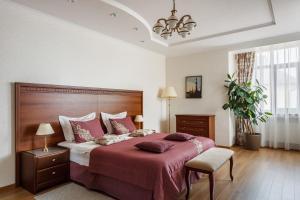 Кровать или кровати в номере Отель Южная Башня