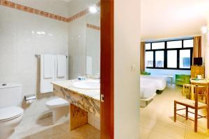 A bathroom at Hotel Faycán