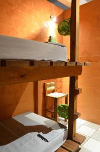 Litera o literas de una habitación en Hostal San Pancho