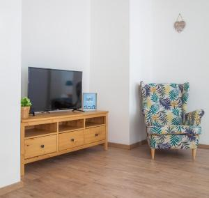 A television and/or entertainment center at Downtown pedestrian zone apartment