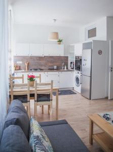 A kitchen or kitchenette at Downtown pedestrian zone apartment