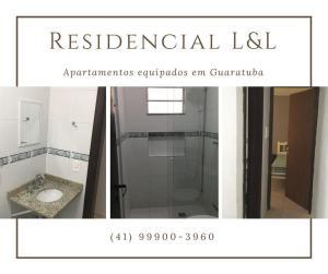 Um banheiro em Residencial L & L
