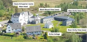 A bird's-eye view of Bridge of Orchy Hotel