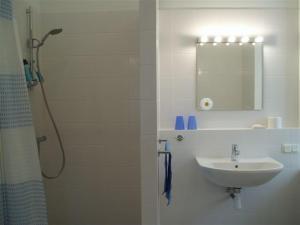 A bathroom at SwissSTAR