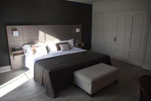 Cama o camas de una habitación en Hotel Igeretxe